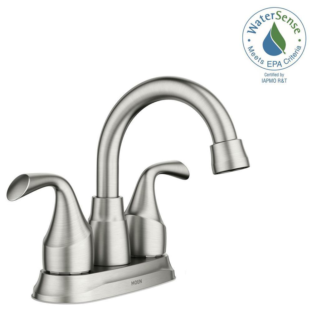 Idora 4 in. Centerset 2-Handle Bathroom Faucet in Spot Resist Brushed Nickel