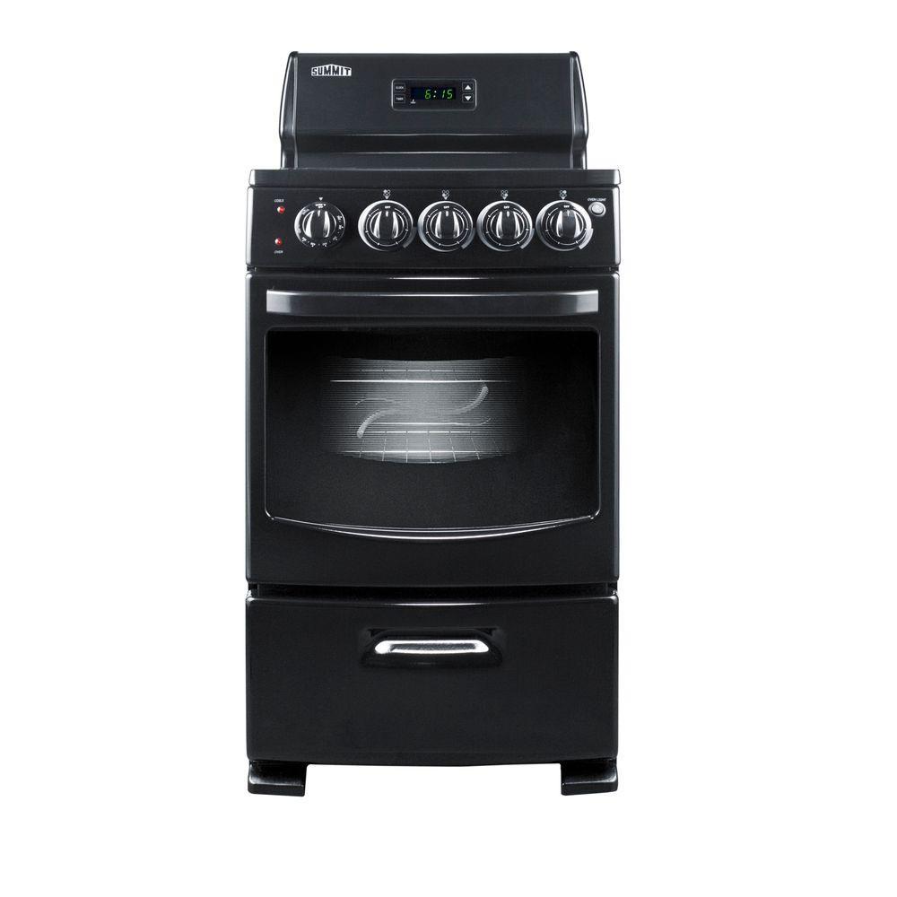 Summit Appliance 20 in. 2.62 cu. ft. Electric Range in Black