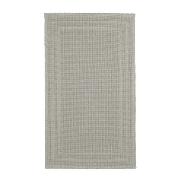 Legends Sterling Light Gray 50 in. x 30 in. Cotton Reversible Bath Mat