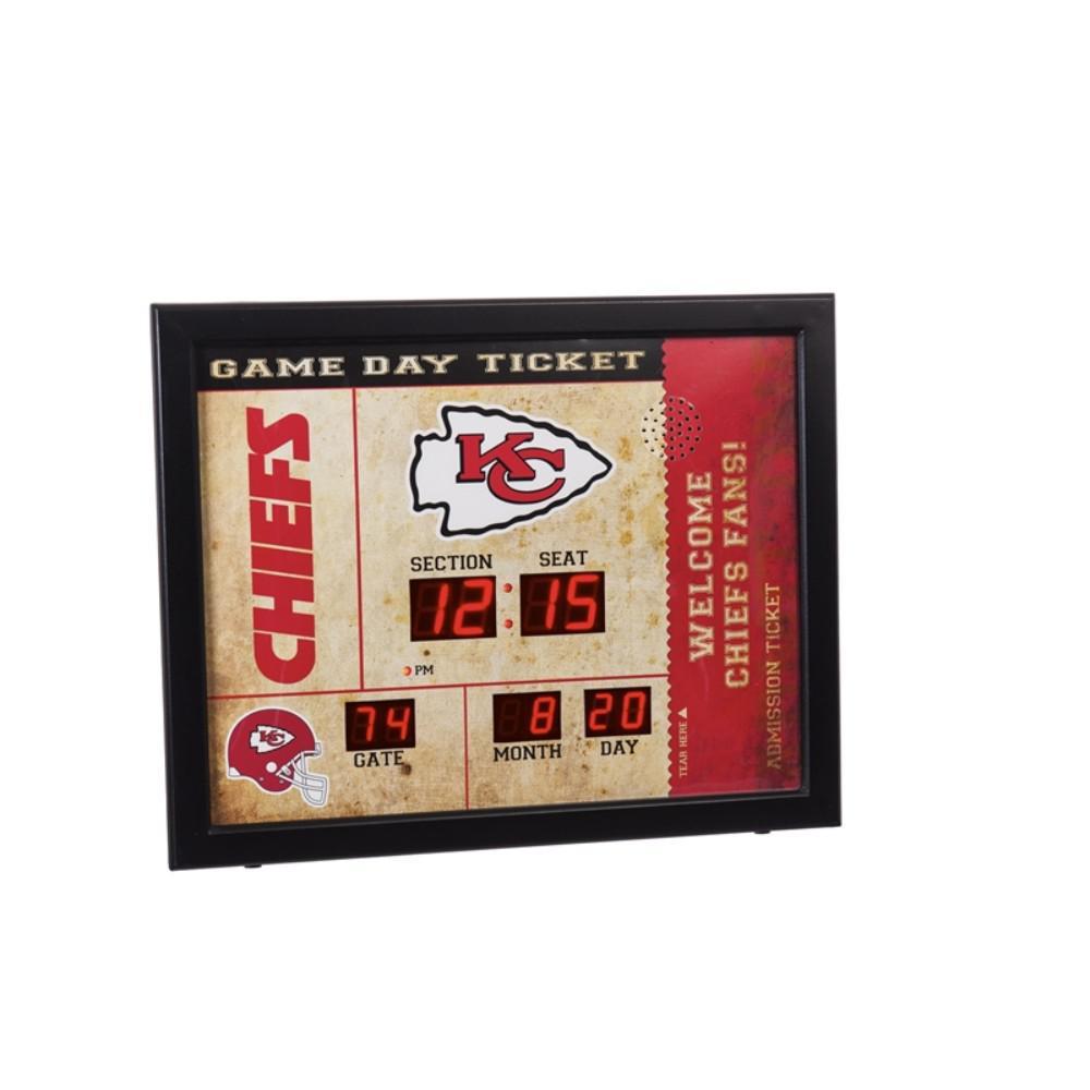 Kansas City Chiefs NFL Bluetooth Ticket Stub Wall Clock