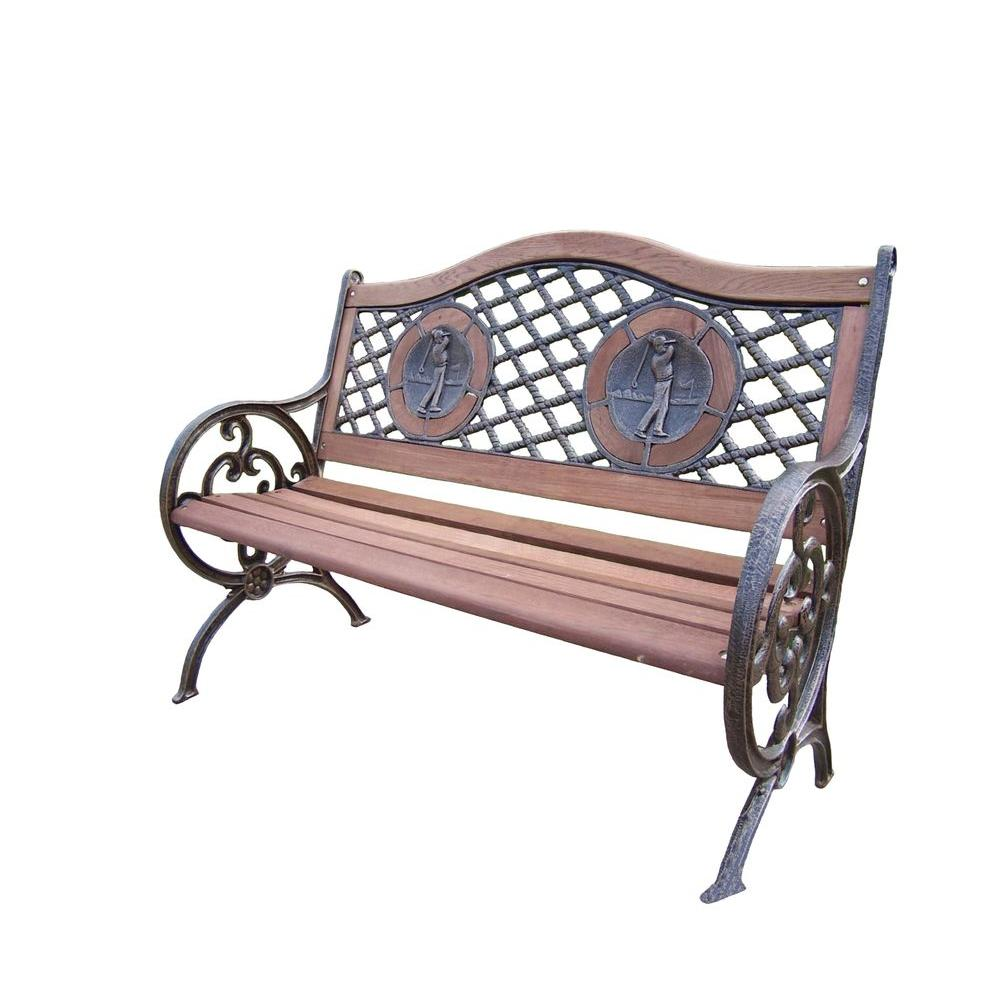 Oakland Living Double Golfer Patio Bench-6066-AB - The ... on Ab And Outdoor Living id=34639