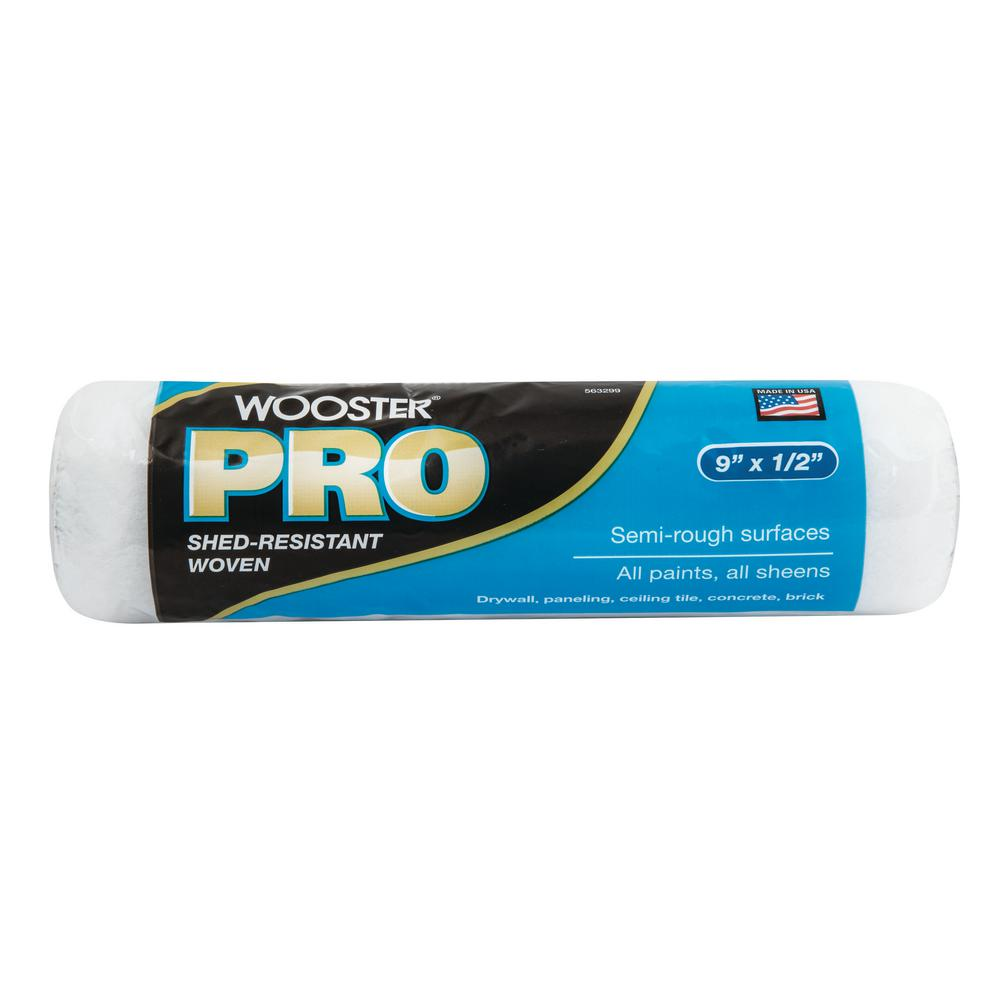 Wooster Pro 9 in. x 1/2 in. High-Density Woven Acrylic Ro...
