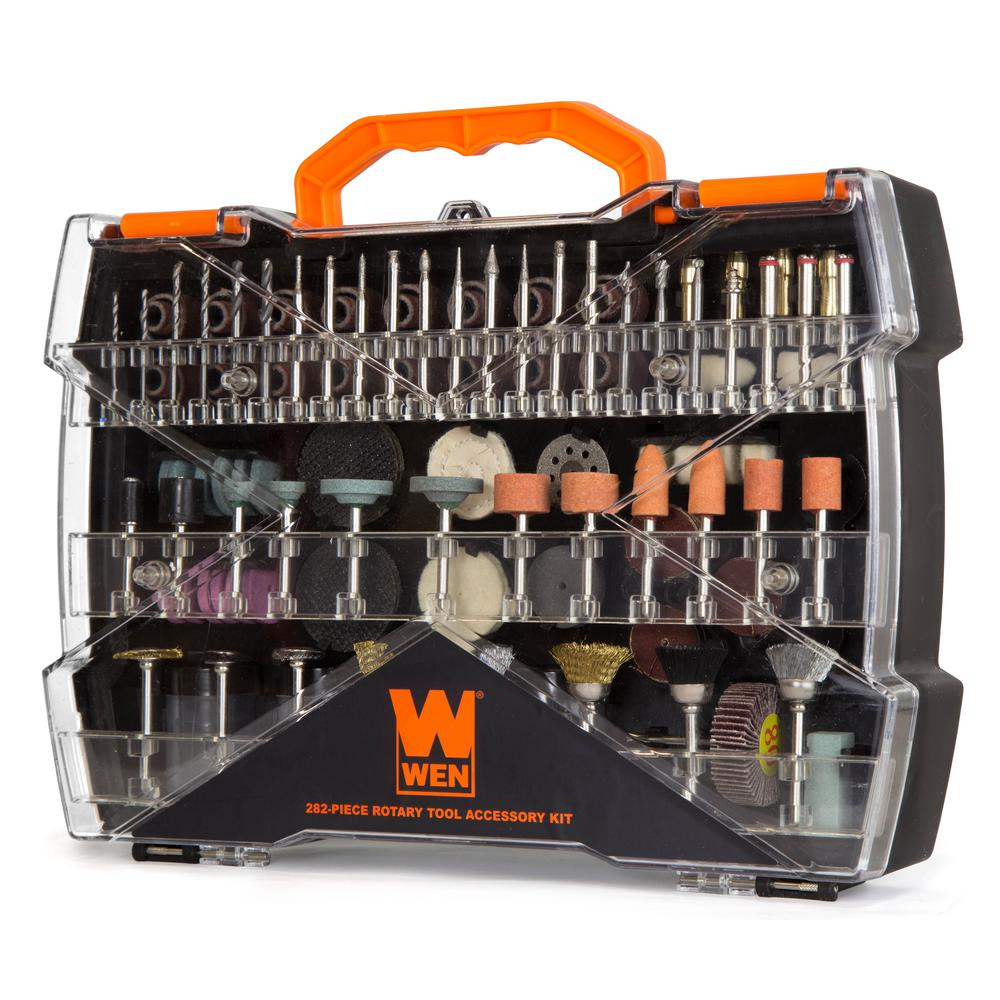 WEN Assorted Rotary Tool Accessory Kit with Carrying Case (282-Piece)