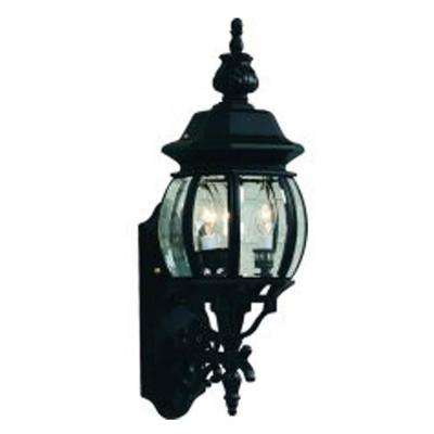 3-Light White Outdoor Wall Mount Sconce