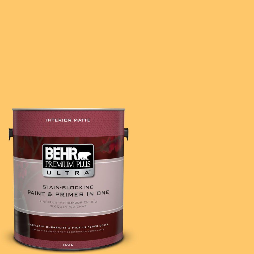 1 gal. #HDC-SP16-05 Daffodil Flat Interior Paint