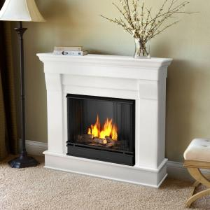Real Flame Ashley 48 in. Gel Fuel Fireplace in White-7100-W - The ...