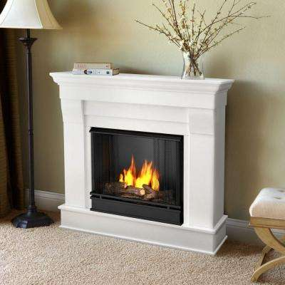 Chateau 41 in. Ventless Gel Fuel Fireplace in White
