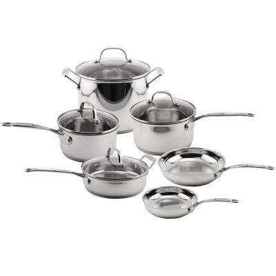 Earthchef 10-Piece Silver Cookware Set with Lids