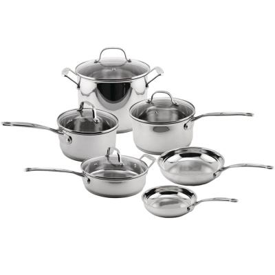 EarthChef 10-Piece Stainless Steel Cookware Set