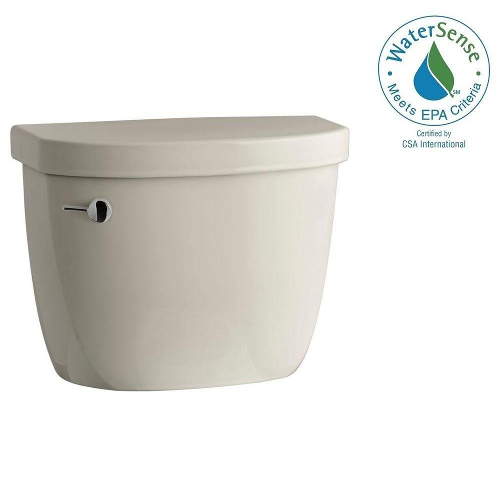 KOHLER Cimarron 1.28 GPF Single Flush Toilet Tank Only with AquaPiston Flushing Technology in Sandbar