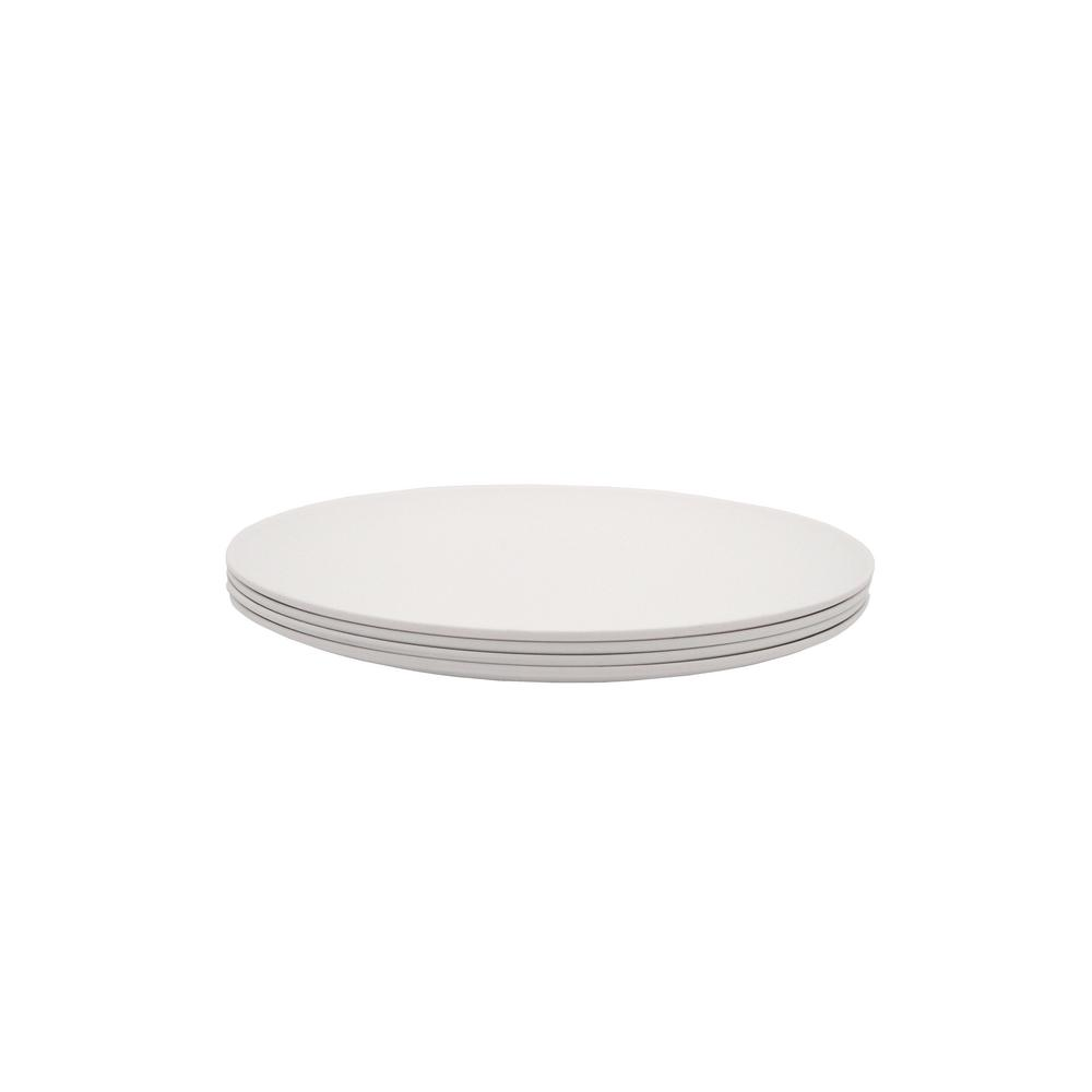 PLAnet 4-Piece White Dinner Plate