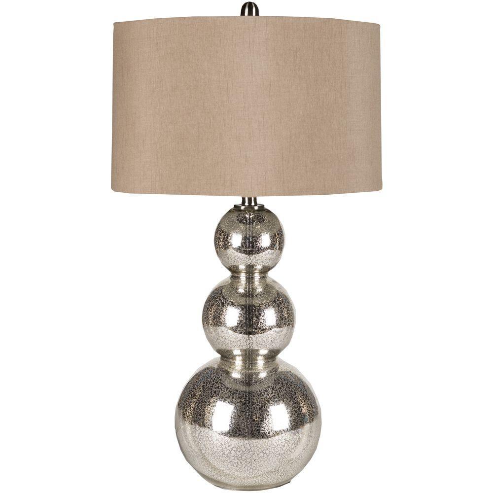 Viroqua 31.5 in. Silver Mercury Glass Table Lamp