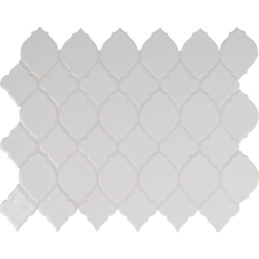 MSI Denali 12 in. x 12 in. x 8 mm Glazed Ceramic Mesh-Mounted Mosaic Tile (10 sq. ft. / case)