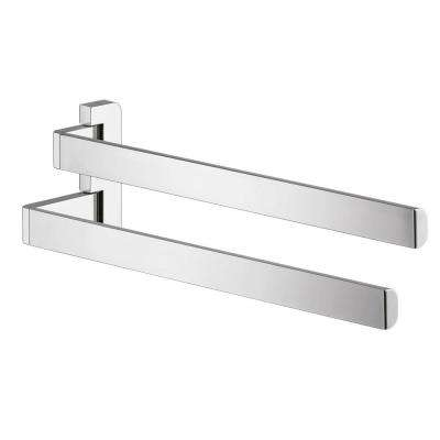 Axor Universal 14 in. Double-Arm Double Towel Bar in Chrome