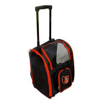MLB Baltimore Orioles Pet Carrier Premium Bag with wheels in Orange