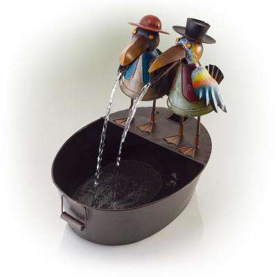 20 in. Metal Crow Duo Fountain