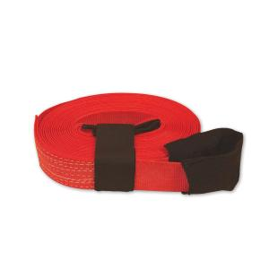 SNAP-LOC 30 ft. x 2 inch Tow Strap with Hook and Loop Storage Fastener in Red by SNAP-LOC