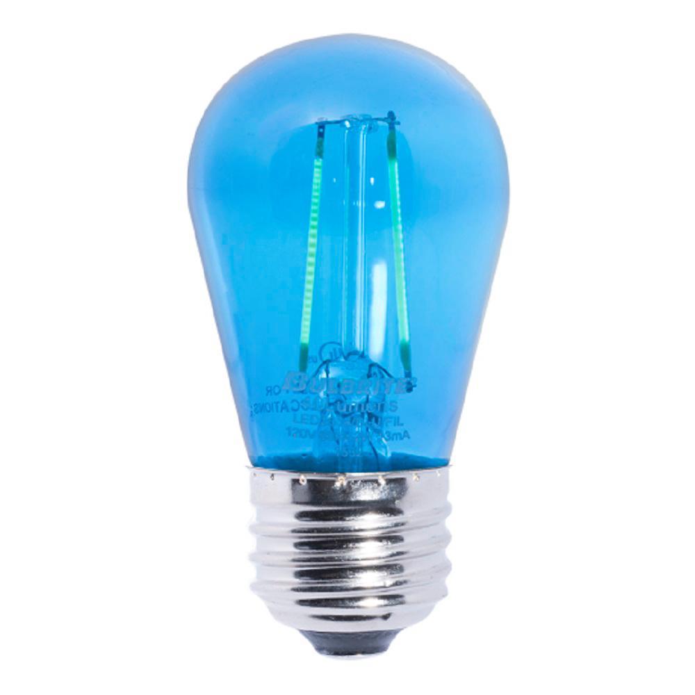 bulbrite 11w equivalent s14 led blue light bulb 5 pack 861150 the home depot. Black Bedroom Furniture Sets. Home Design Ideas