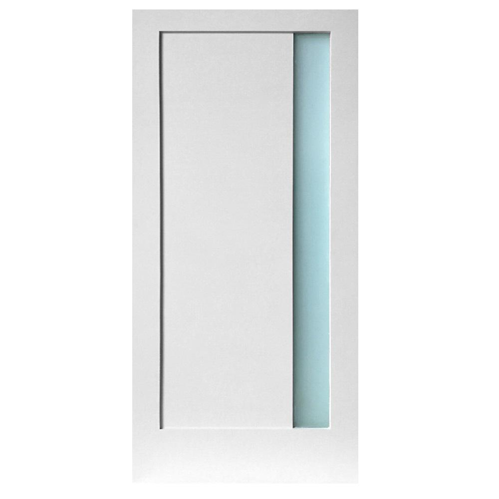 Stile Doors 30 in. x 80 in. 1-Lite Narrow Satin Etch Primed  sc 1 st  The Home Depot & Stile Doors 30 in. x 80 in. 1-Lite Narrow Satin Etch Primed Solid ...