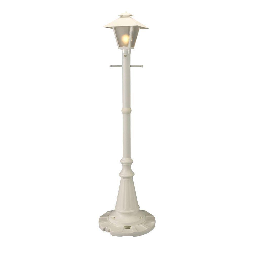 Cape Cod White Outdoor Plug-In Post Lantern Patio
