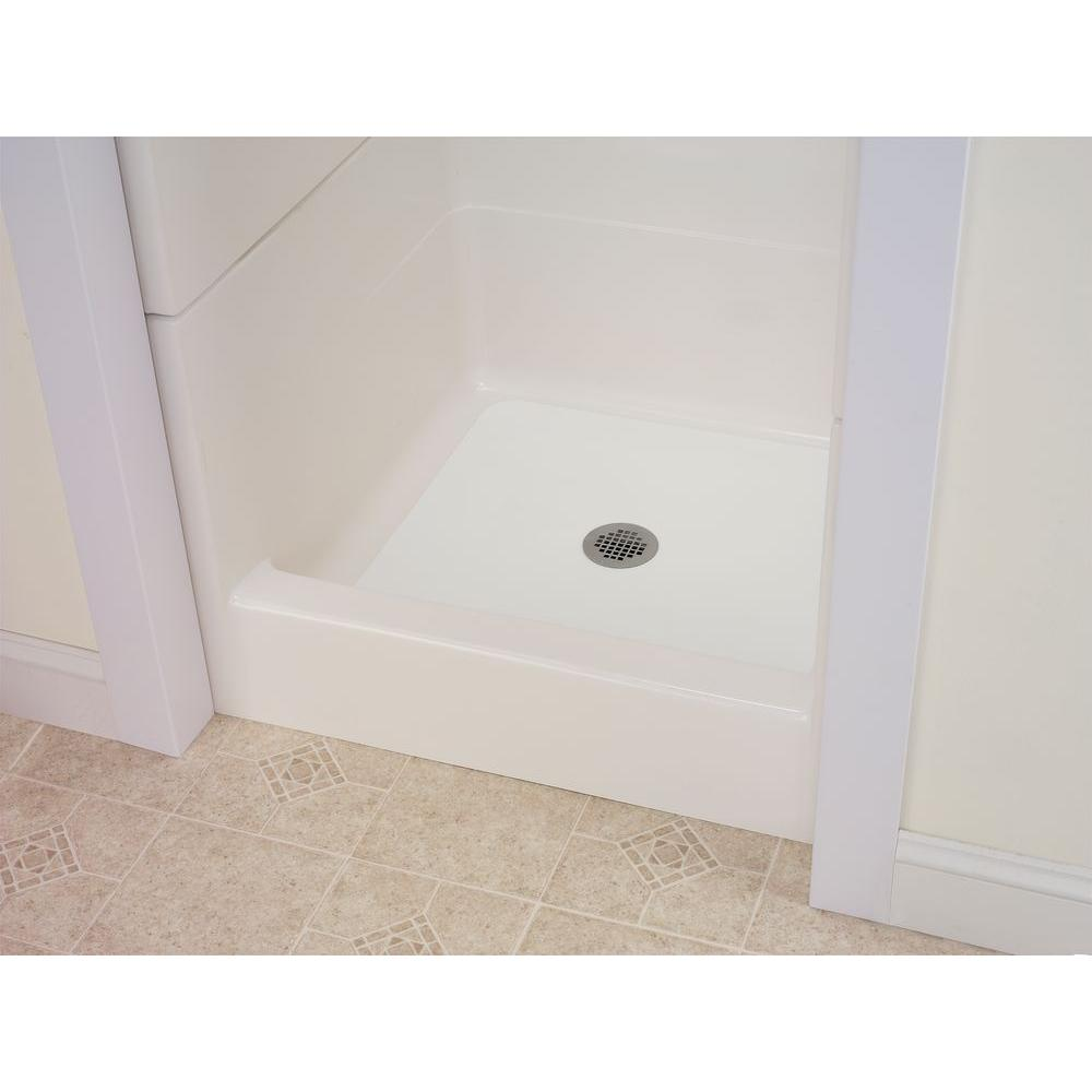 22 in  W x 40 in  L Shower Floor Repair Inlay Kit, White