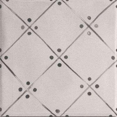 Handspun Gray Line Art 6 in. x 6 in. Ceramic Wall Tile (10 sq. ft. / case)