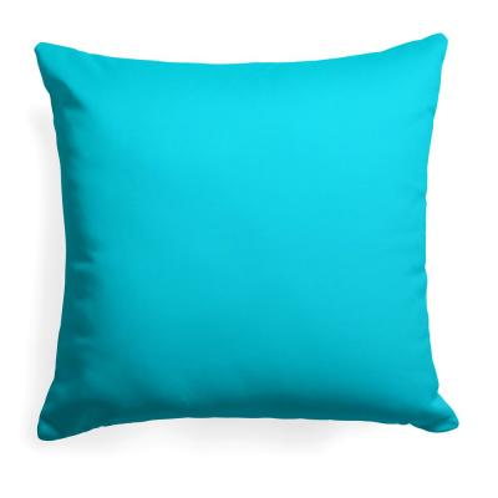 Lagoon Aqua Square Outdoor Throw Pillow
