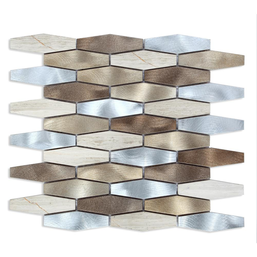 Chenx 1181 in x 1398 in x 8 mm aluminum metal glass backsplash chenx 1181 in x 1398 in x 8 mm aluminum metal glass backsplash in dailygadgetfo Images