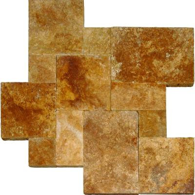 Riviera Travertine Tumbled Paver Kits (10-Kits/160 sq. ft. / pallet)