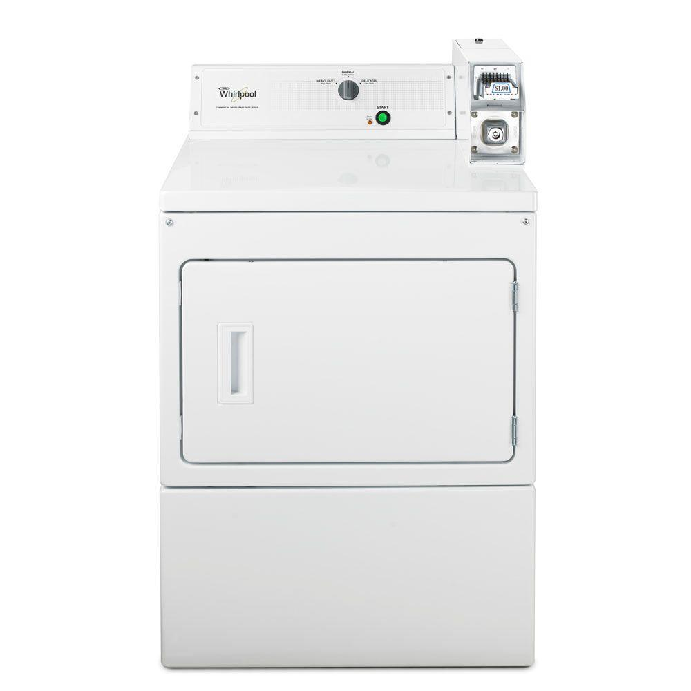 Whirlpool Heavy-Duty Series 7.4 cu. ft. Commercial Gas Dryer in White