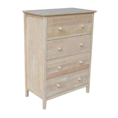 Brooklyn 4 Drawer Unfinished Wood Chest. Dressers   Chests   Bedroom Furniture   The Home Depot