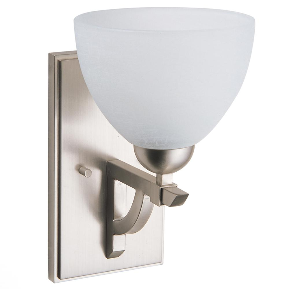 Destiny 1-Light Satin Nickel Sconce