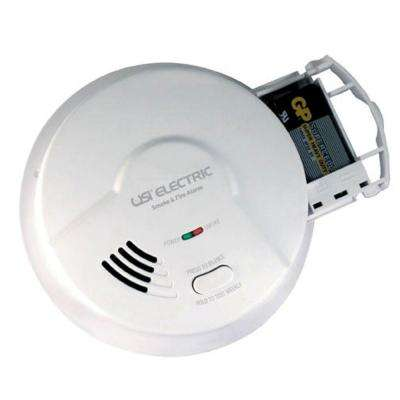 Hardwired Ionization Smoke And Fire Detector With 9V Battery Backup And Pull Out Drawer