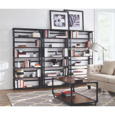 Black Folding/Stacking Open Bookcase