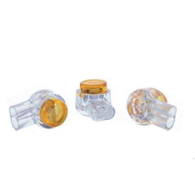Yellow IDC Connectors (Standard Package, 4-Packs of 25)