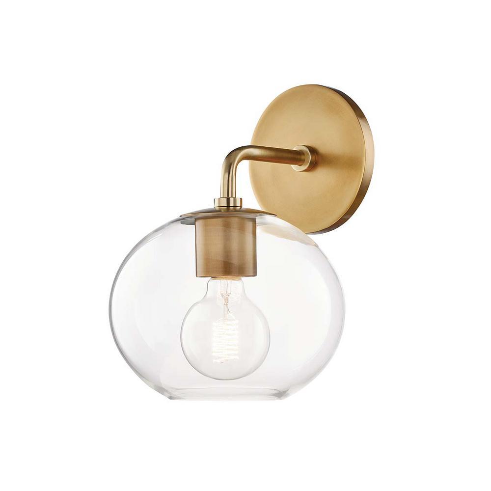 Margot 1-Light Aged Brass Wall Sconce