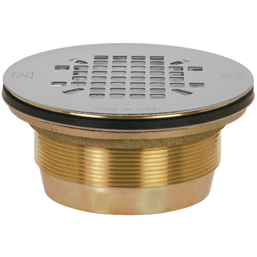 brass shower drain with no caulk8272b the home depot
