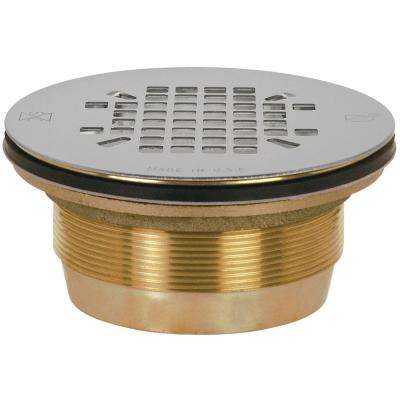 2 in. Brass Shower Drain with No Caulk