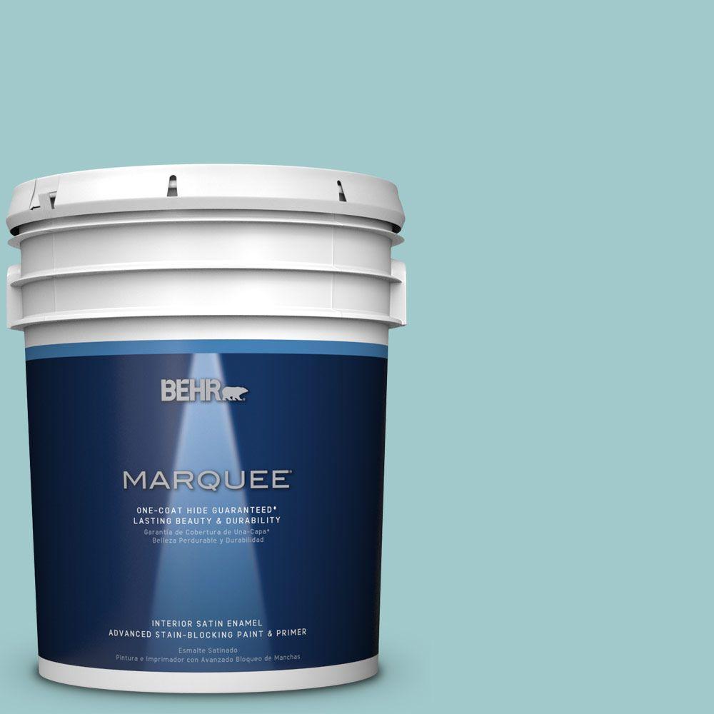 5 gal. #HDC-SP16-08 Blue Bell Satin Enamel Interior Paint