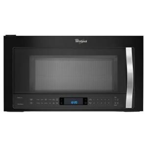 Whirlpool 30 In W 1 9 Cu Ft Over The Range Convection Microwave Black Ice Wmh76719ce Home Depot