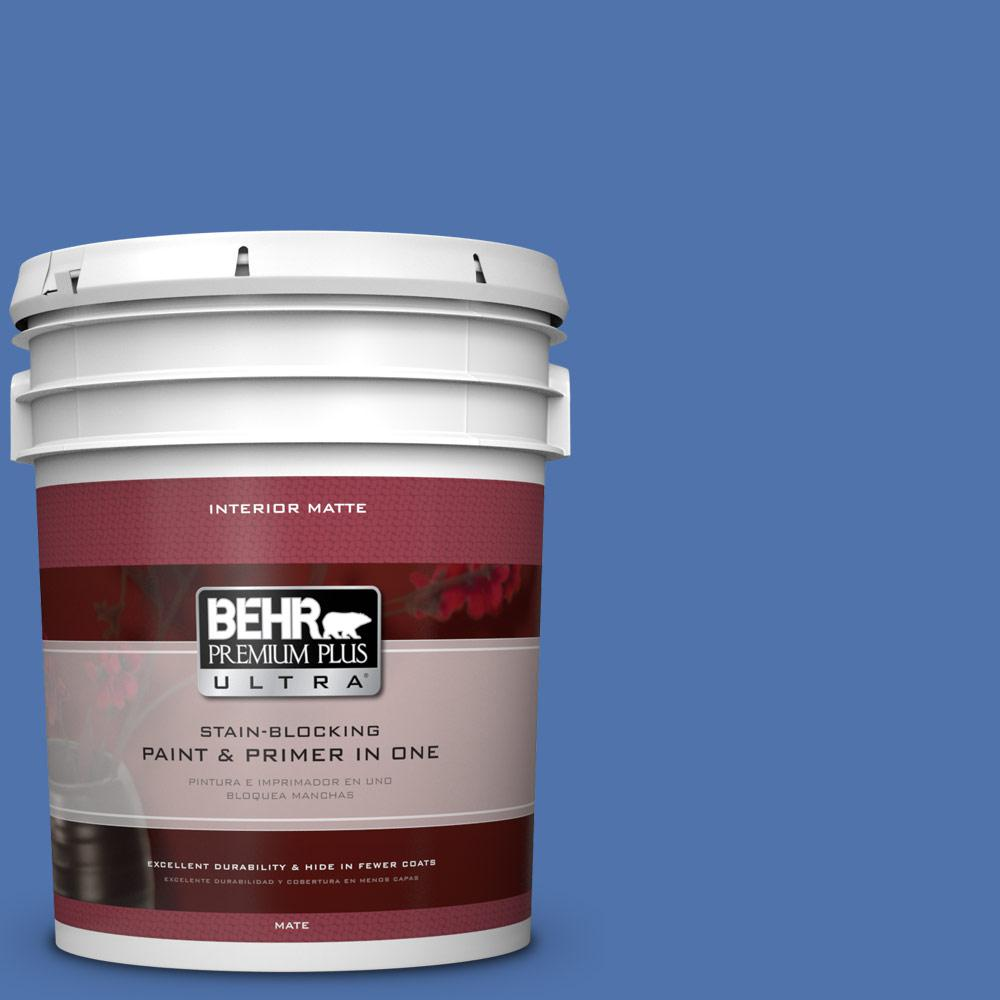 BEHR Premium Plus Ultra 5 gal. #590B-6 Flying Fish Flat/Matte Interior Paint