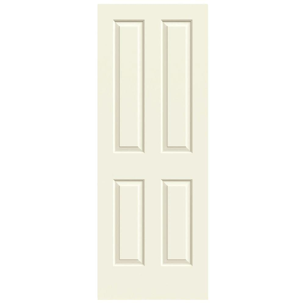 JELD-WEN 30 in. x 80 in. Coventry Vanilla Painted Smooth Molded Composite MDF Interior Door Slab