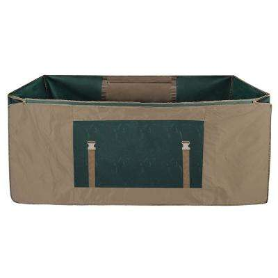 Christmas Tree Rolling Storage Duffle Bag for Trees Up to 12 ft. Tall with Window