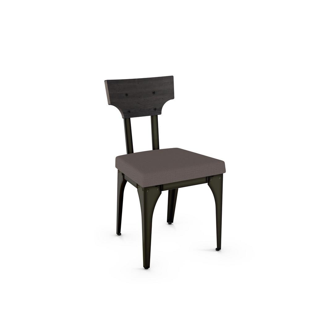 Rally Medium Grey Cushion Dark Grey Wood Back Dining Chair (Set of 2)