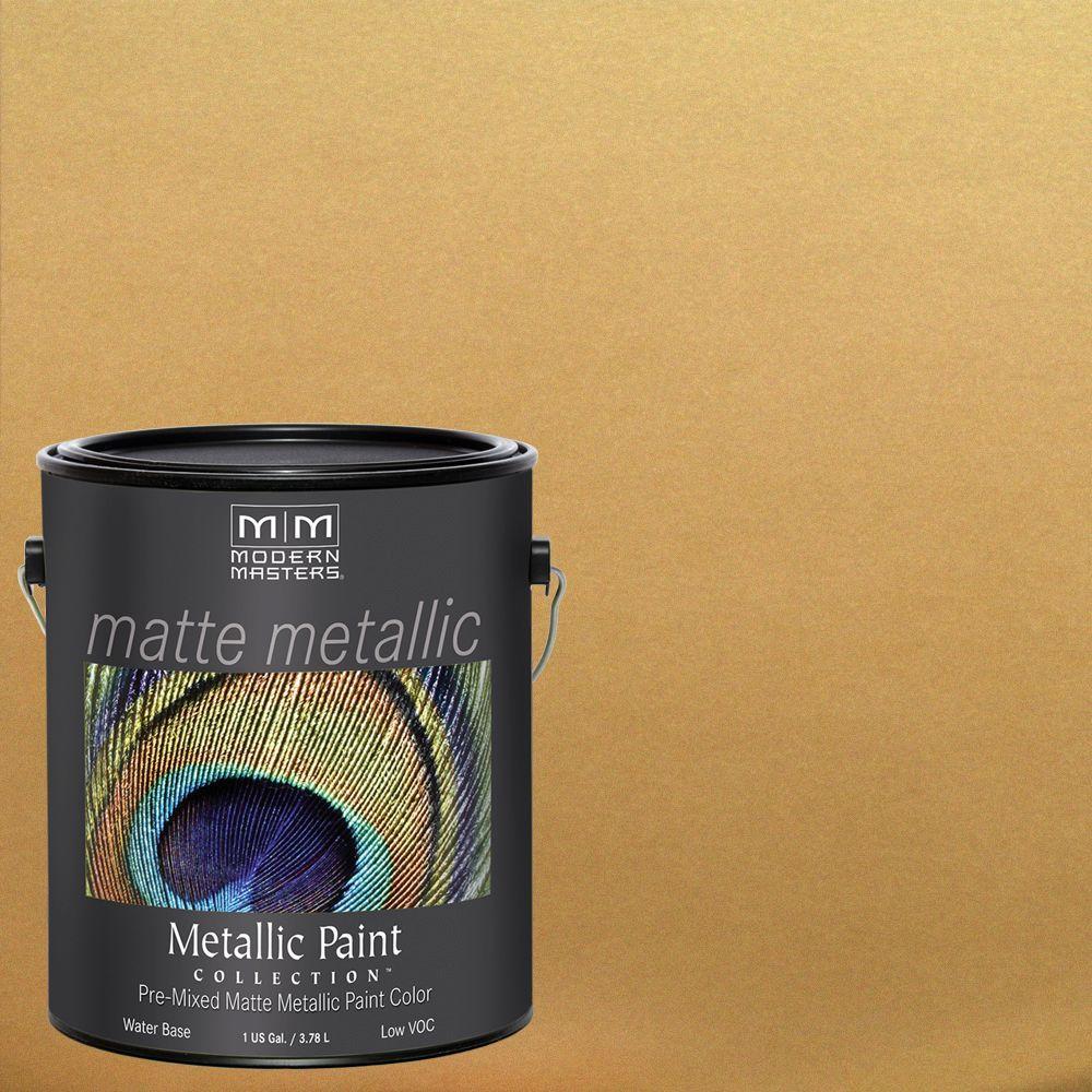 1 gal. Pale Gold Water-Based Matte Metallic Interior Paint