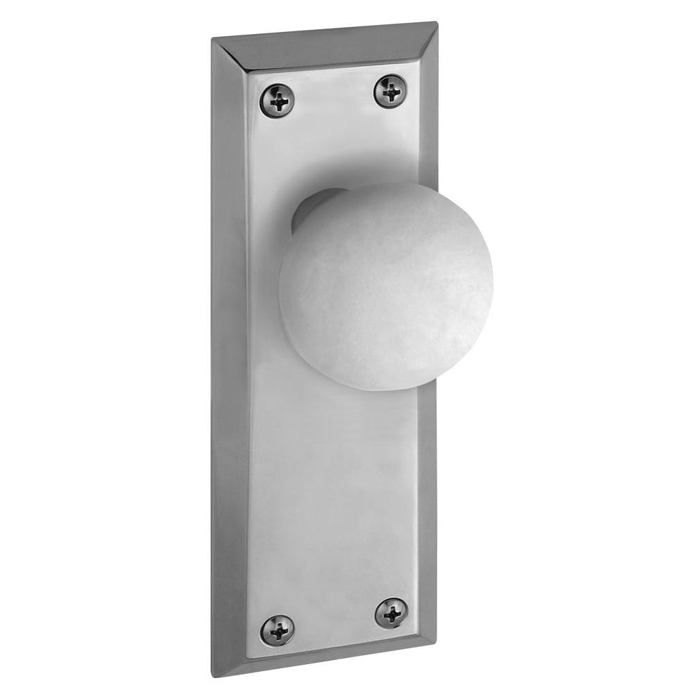 Grandeur Fifth Avenue Bright Chrome Plate with Privacy Hyde Park Knob