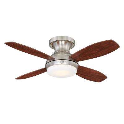Kinsey 44 in. LED Indoor Brushed Nickel Ceiling Fan with SkyPlug Technology