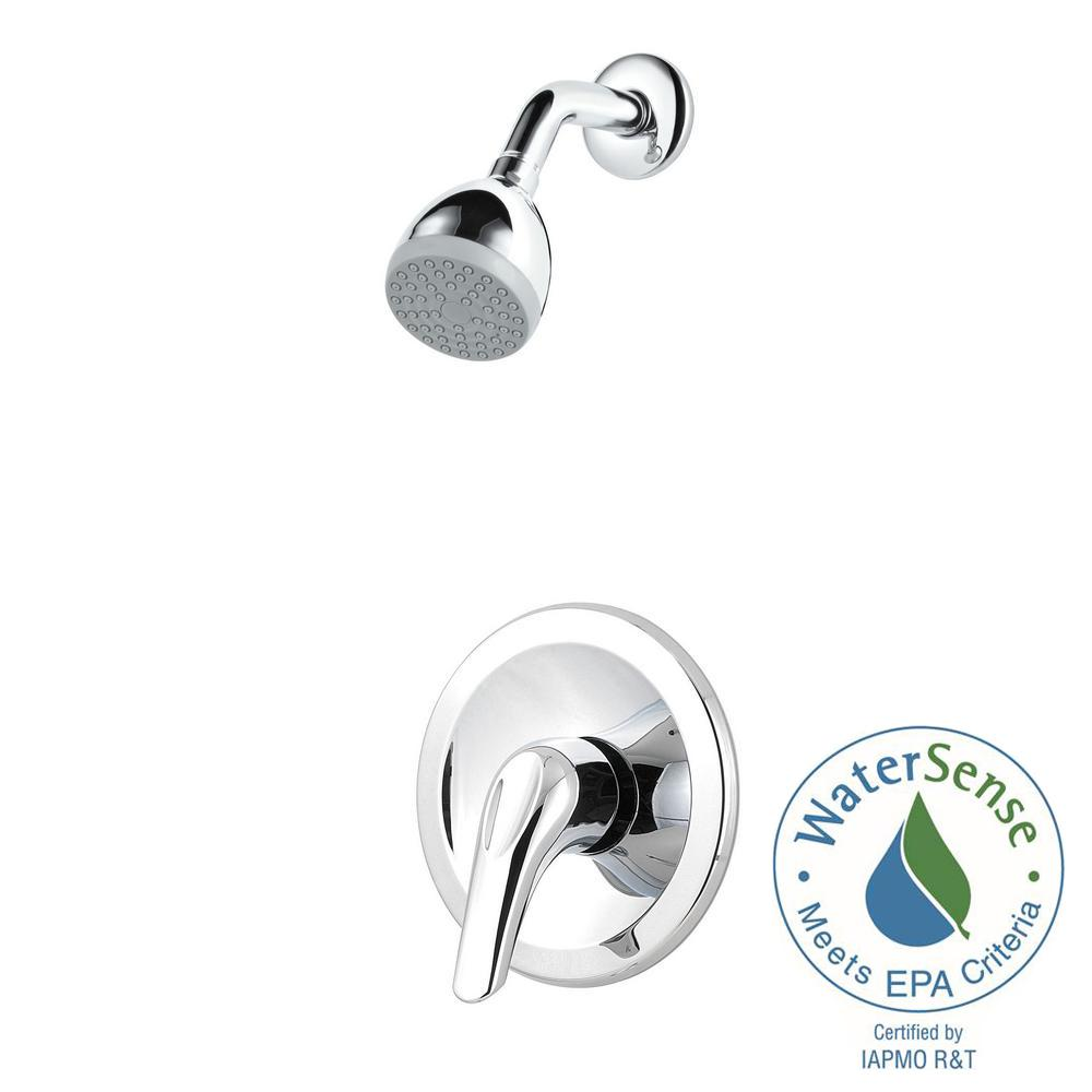 Pfirst Series Single-Handle Shower Faucet Trim Kit in Polished Chrome (Valve