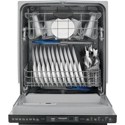 24 in. Smudge Proof Black Stainless Steel Top Control Built-In Tall Tub Dishwasher, ENERGY STAR, 49 dBA