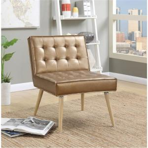 Ave Six Amity Sizzle Copper Fabric Tufted Accent Chair Amt51t S53 The Home Depot